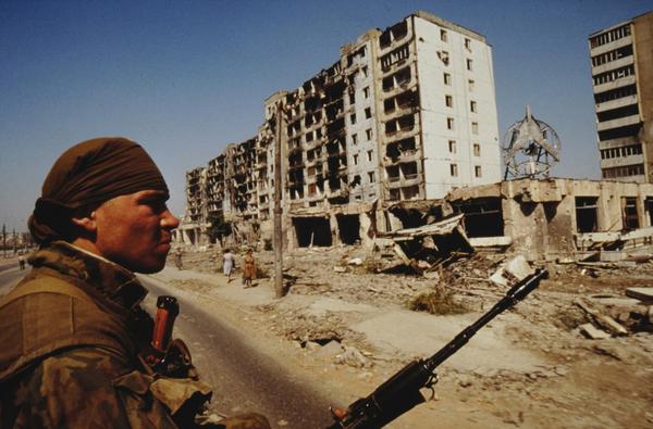 Война в Чечне. Город Грозный, 1990-е годы