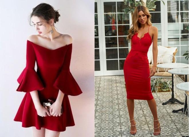 Красное платье на День святого Валентина