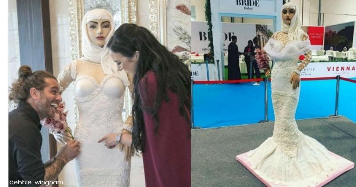 Самый дорогой торт в мире – арабская невеста в натуральную величину!