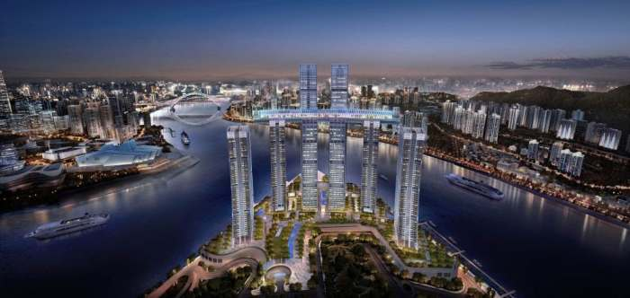 Амбициозный строительный проект: в Китае построят горизонтальный небоскреб