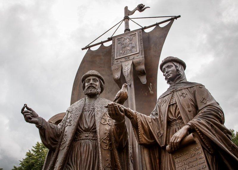 10. Пётр и Феврония ленин, памятник, память, пушкин, россия, топ