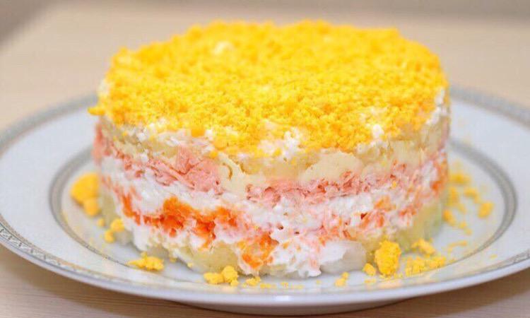 Вкуснейший салат «Мимоза» с тунцом