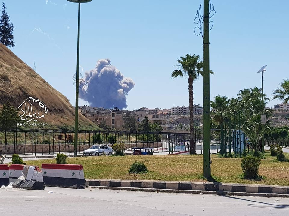 Взрывы на авиабазе в Хаме