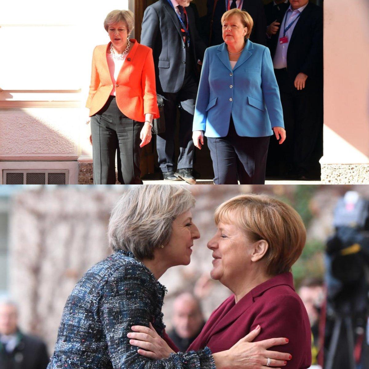 Россияне отреагировали на отказ Меркель пожать руку Мэй