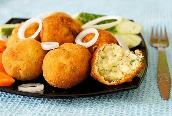 Картофельные крокеты овощные блюда