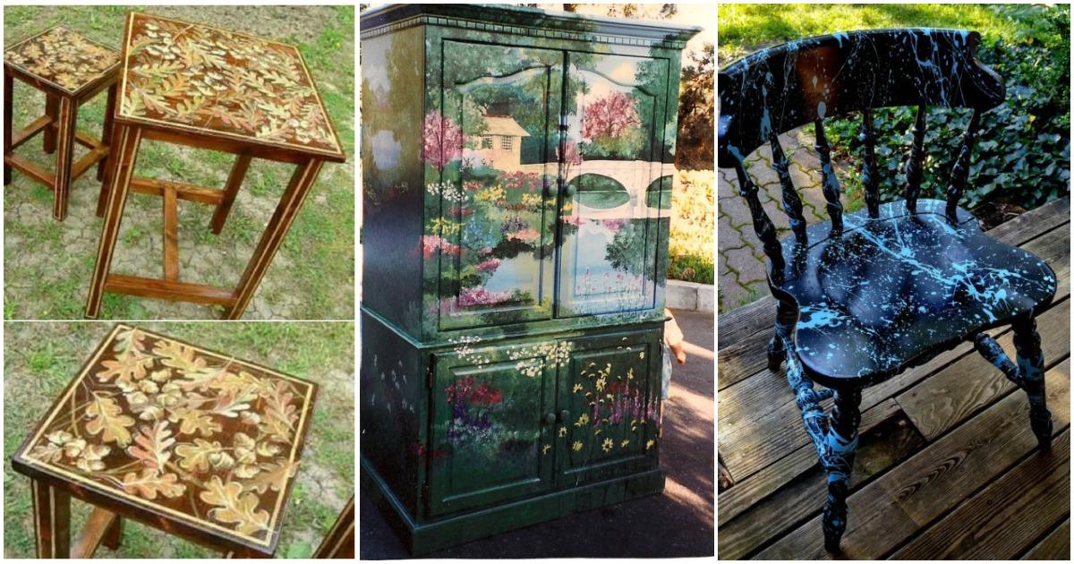 25 необычных преображений старой мебели с помощью простой краски