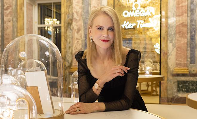 Николь Кидман открыла выставку Omega в Санкт-Петербурге