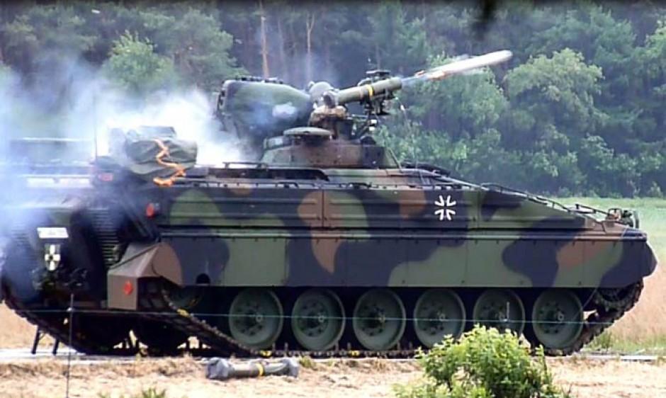 Германские боевые машины пехоты Marder получают противотанковые ракеты Spike-LR