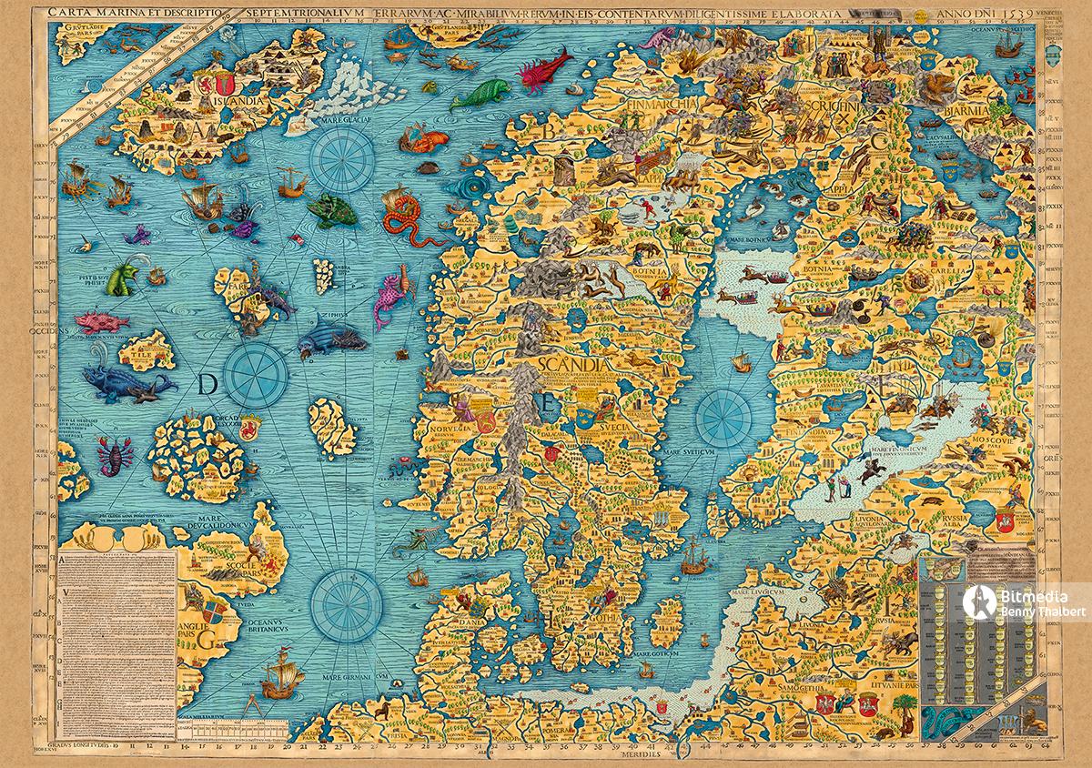 Откуда  Гольфстрим на древнейшей карте 1539г. ?
