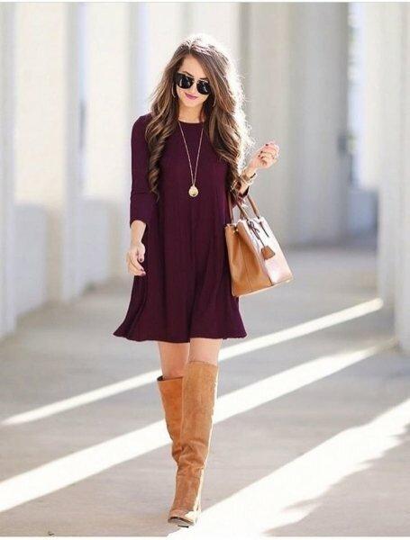 9 способов носить баклажановый цвет и выглядеть как тростинка
