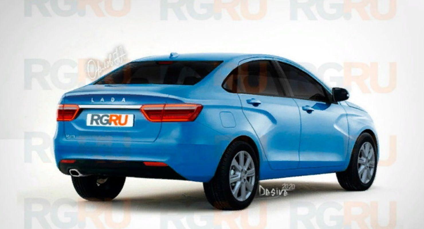 В Сети появились первые изображения седана Lada Vesta нового поколения Автомобили