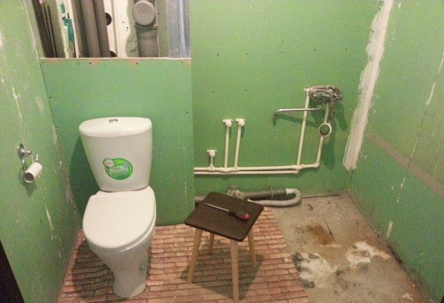 История ремонта ванной комнаты за 150 000 рублей