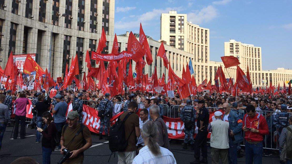 Один человек за 100: сторонники «Левого фронта» насчитали 50 тысяч участников на митинге в Москве