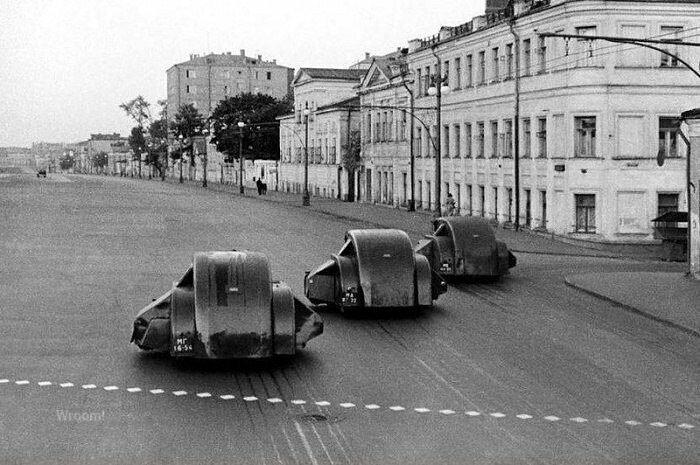 Подметально–уборочные машины ПУ–7 на шасси ГАЗ–ММ, СССР, 1938 год знаменитости, исторические фотографии, история, редкие фотографии, фото