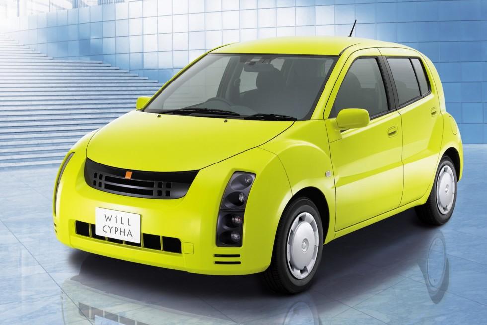 Toyota WiLL Cypha жёлтый