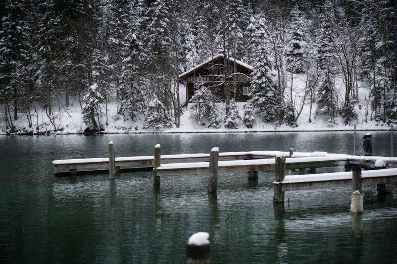 Путешествие к озеру План в Австрийских Альпах