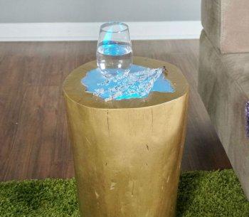 МАСТЕРИЛКА. Журнальный столик из сруба дерева со светодиодной подсветкой