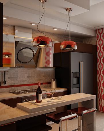 Кухня с барной стойкой от Trutneva Design