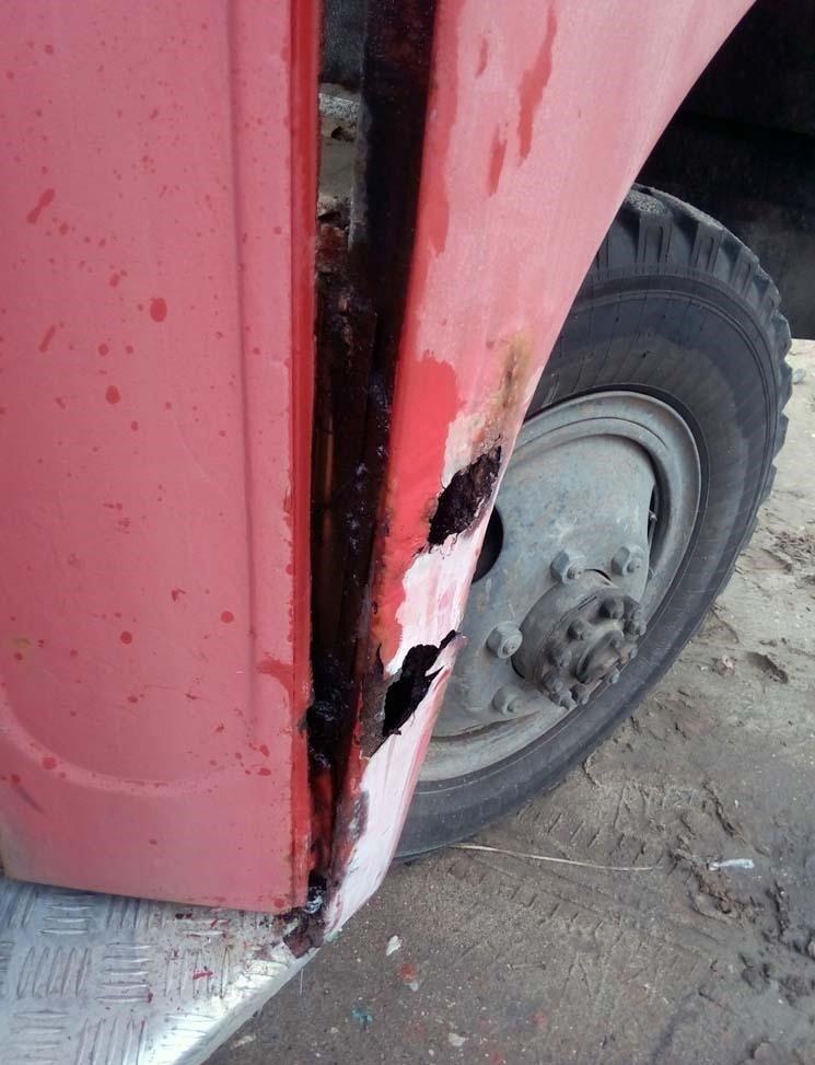 Ну, а дальше начался процесс ремонта кузова. авто, автобус, восстановление, олдтаймер, паз, реставрация, ретро авто