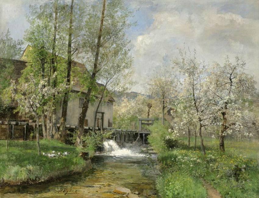 Дыханье цветущих садов... Художница Marie Egner