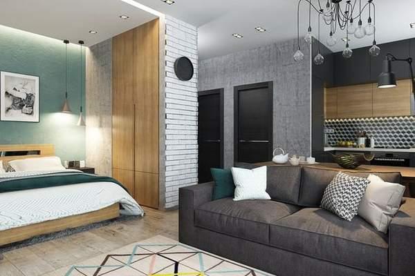 как расставить мебель в однокомнатной квартире компактно, фото 33