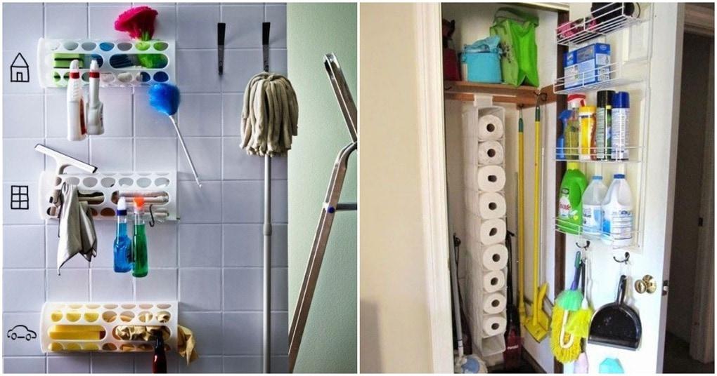Порядок в доме. Интересные идеи хранения инвентаря для уборки