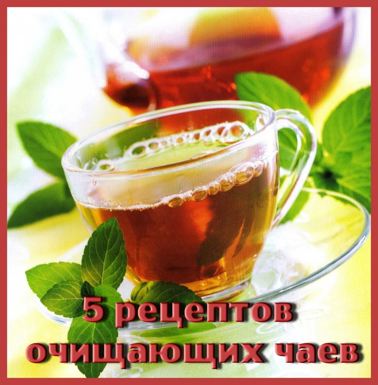 5 рецептов очищающих чаев.
