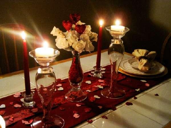 Украшение комнаты для романтического вечера