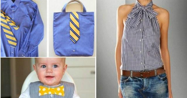 Практичные идеи переделки мужских рубашек
