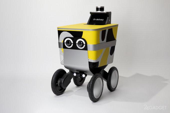 Логистическая компания создала себе в помощь робота-тележку (2 фото) роботы