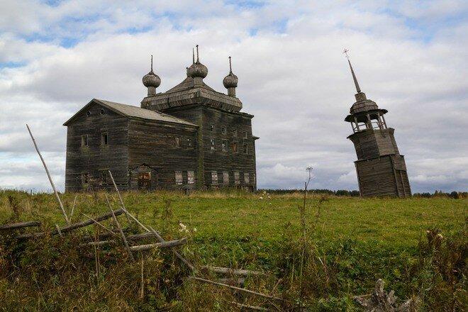 Преображенская церковь и колокольня архитектура, колокольни, наследие, россия, север, храмы