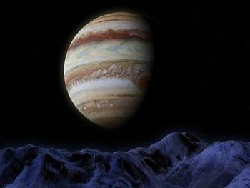 NASA показало шторм на Юпитере, окрасивший его в розовые тона