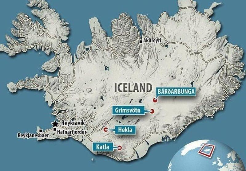 Катла - это вулкан на южном побережье Исландии, один из крупнейших в стране. ynews, вулкан, вулканы, извержение вулкана, исландия, новости, предупреждение, происшествия