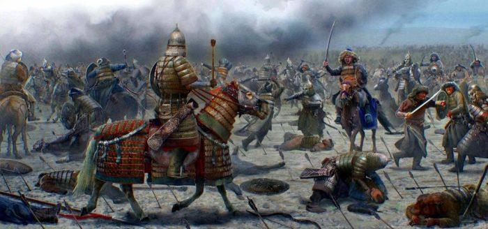 Тяжелая латная конница — основное преимущество половцев в битвах. /Фото: altyn-orda.kz
