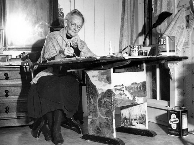 Бабушка Мозес. Изображение: Arthur Z. Brooks