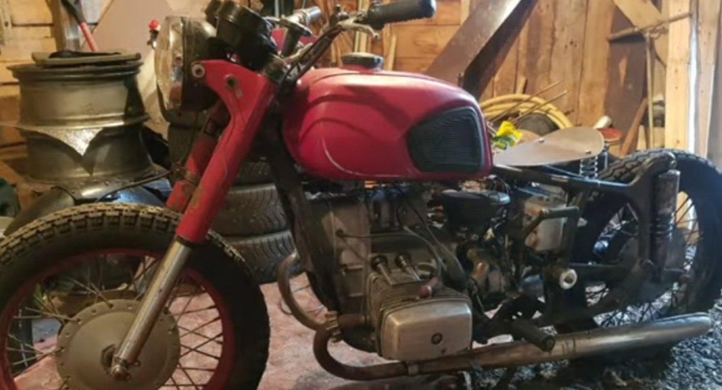 В Сети показали стильный «Боббер» из советского мотоцикла «Днепр» Автомобили