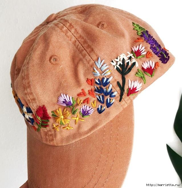 Вышивка на кепке. Идеи декорирования (7) (639x660, 355Kb)