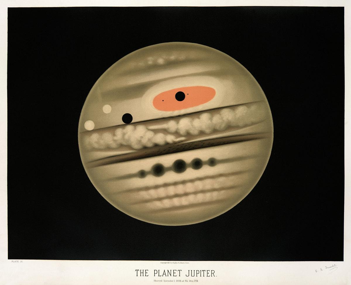 Старинные астрономические рисунки Этьена Трувело 10
