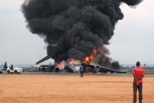 В результате ракетного удара уничтожены два украинских Ил-76.