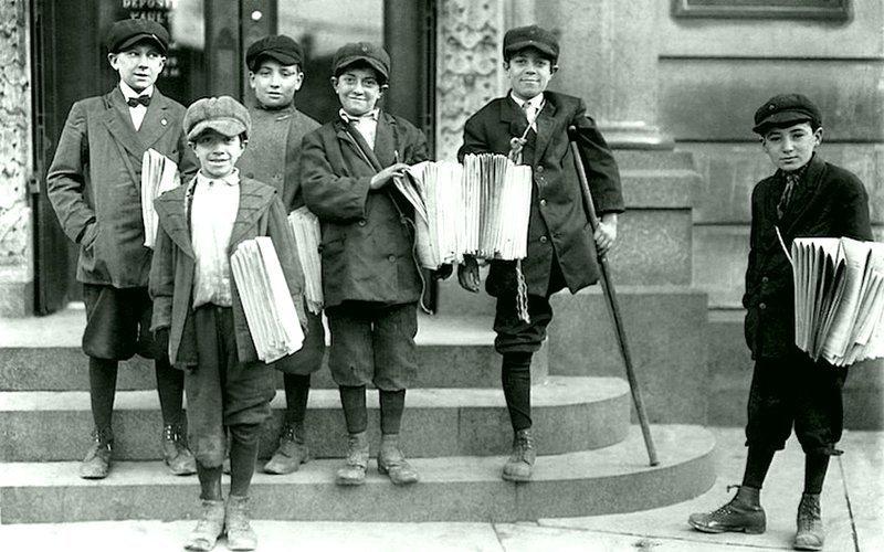 Льюис Уикес Хейн - Маленькие разносчики газет в Джерси-Сити, ноябрь 1912 года Весь Мир в объективе, история, фотография