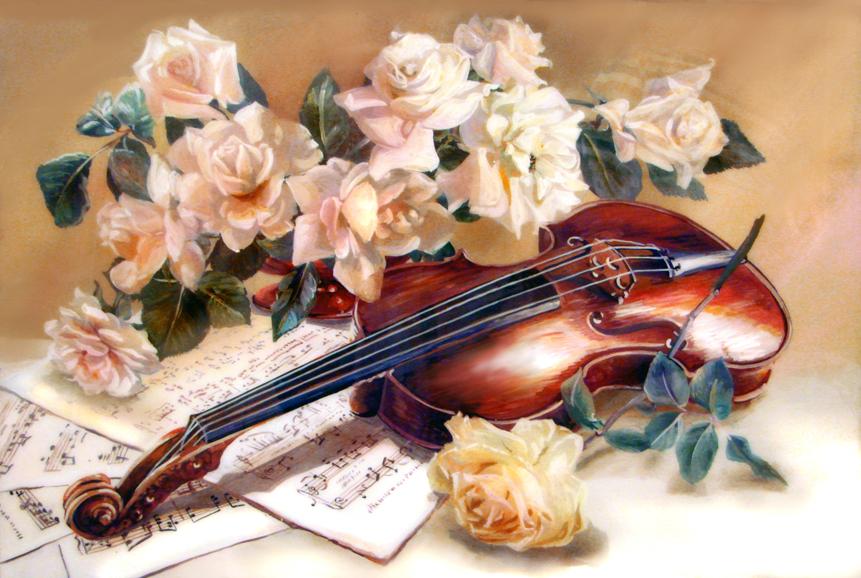 Поздравления, музыкальные открытки цветов