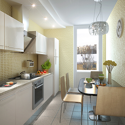Дизайн маленькой кухни от Иванны Марченко