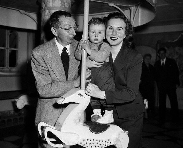 Charles David and Deanna Durbin. 1950