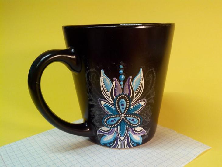 Мастер-класс: роспись чашки контурами роспись,чашка
