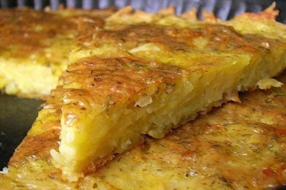Запеканка из картофеля с сыром и чесноком