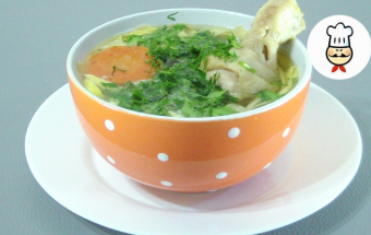 Яичная лапша с куриным бульоном / Лучшее блюдо на 1 января