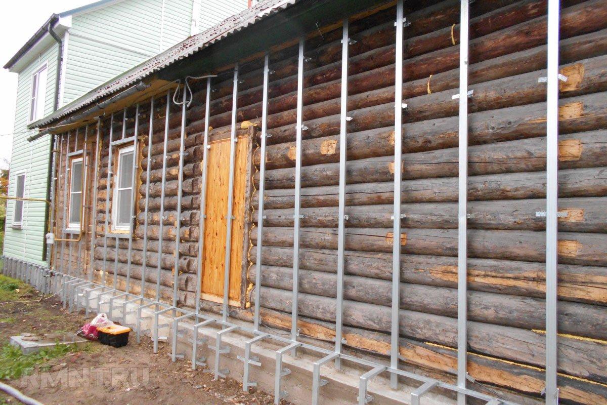 утепление деревянного дома снаружи пенопластом