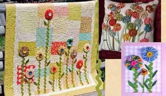 Цветы йо-йо из ткани своими руками для интерьера