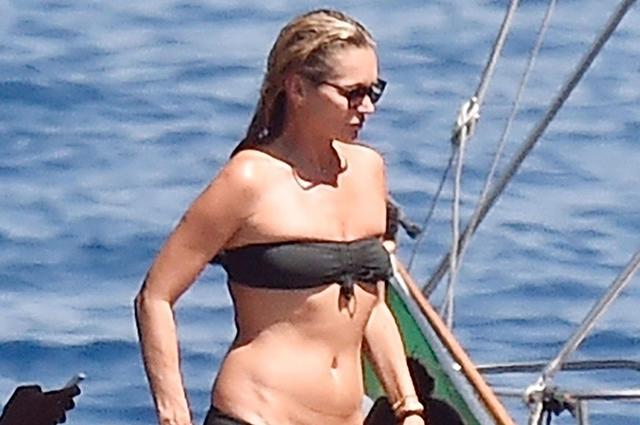 Кейт Мосс отдыхает вместе с Айрис Лоу и ее бойфрендом на яхте в Портофино Экстерьер
