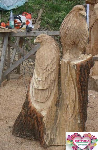 Талантливый человек даже из пня может сотворить произведение искусства! handmake,дерево,поделки своими руками